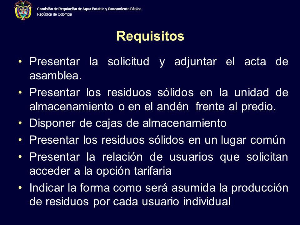 Requisitos Presentar la solicitud y adjuntar el acta de asamblea.