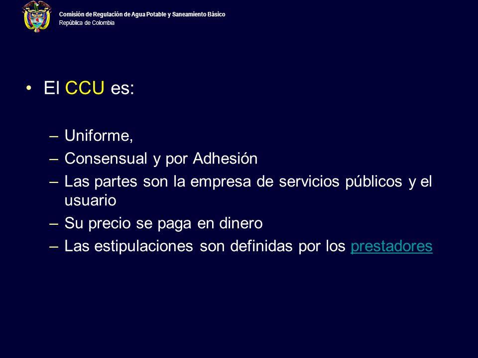 El CCU es: Uniforme, Consensual y por Adhesión