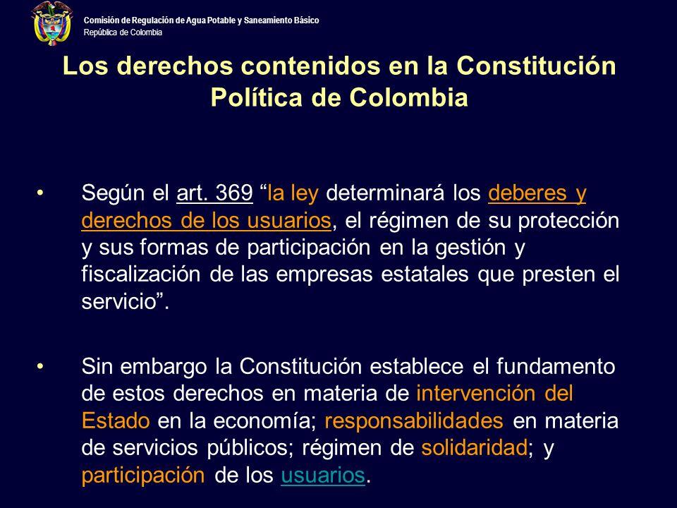 Los derechos contenidos en la Constitución Política de Colombia