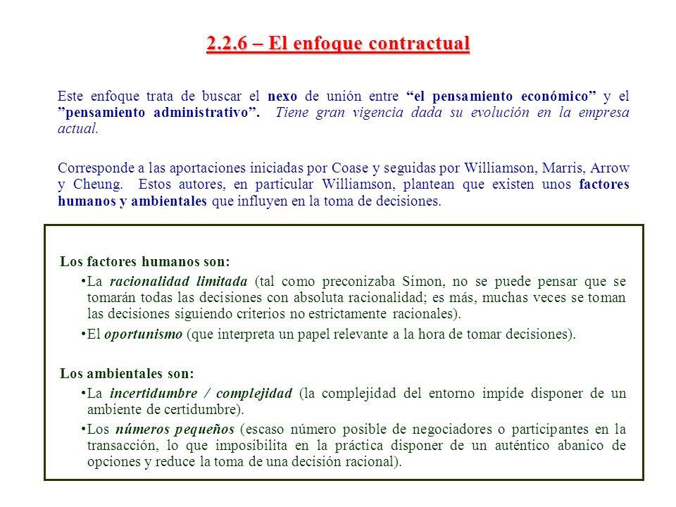 2.2.6 – El enfoque contractual