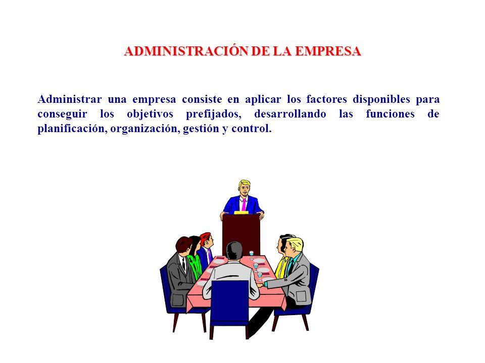 ADMINISTRACIÓN DE LA EMPRESA