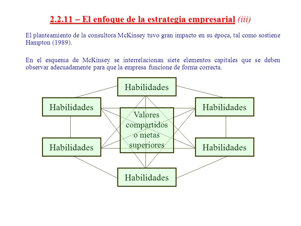 2.2.11 – El enfoque de la estrategia empresarial (iii)