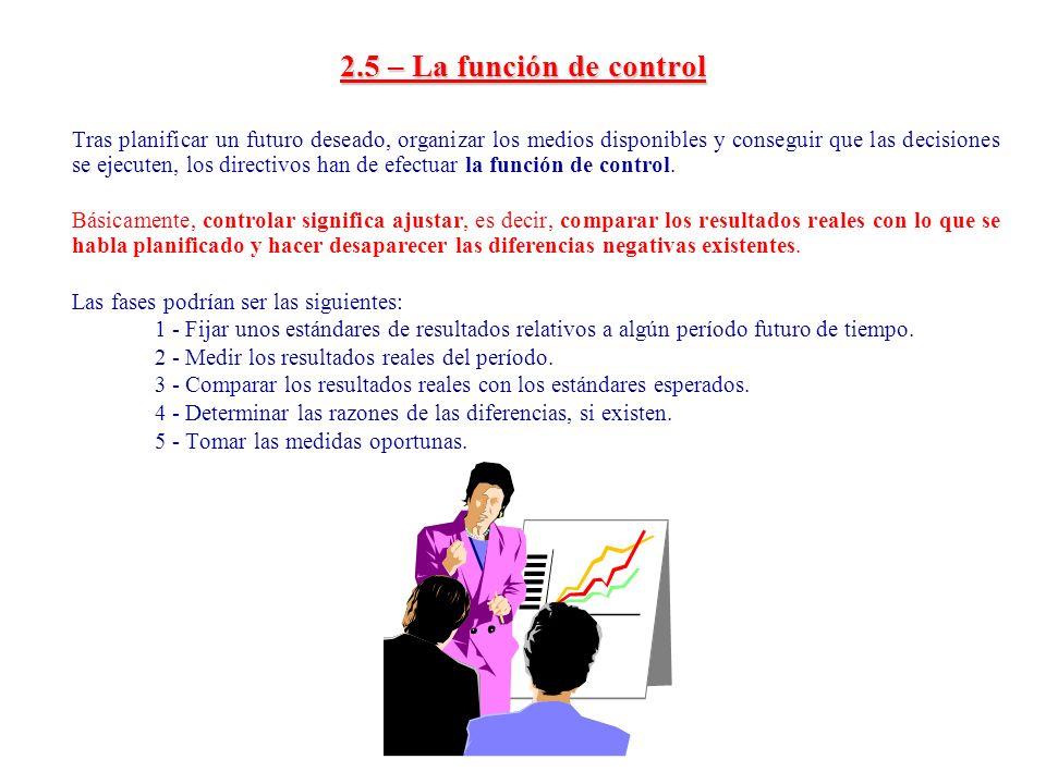 2.5 – La función de control