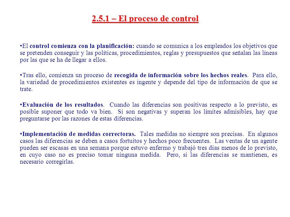2.5.1 – El proceso de control