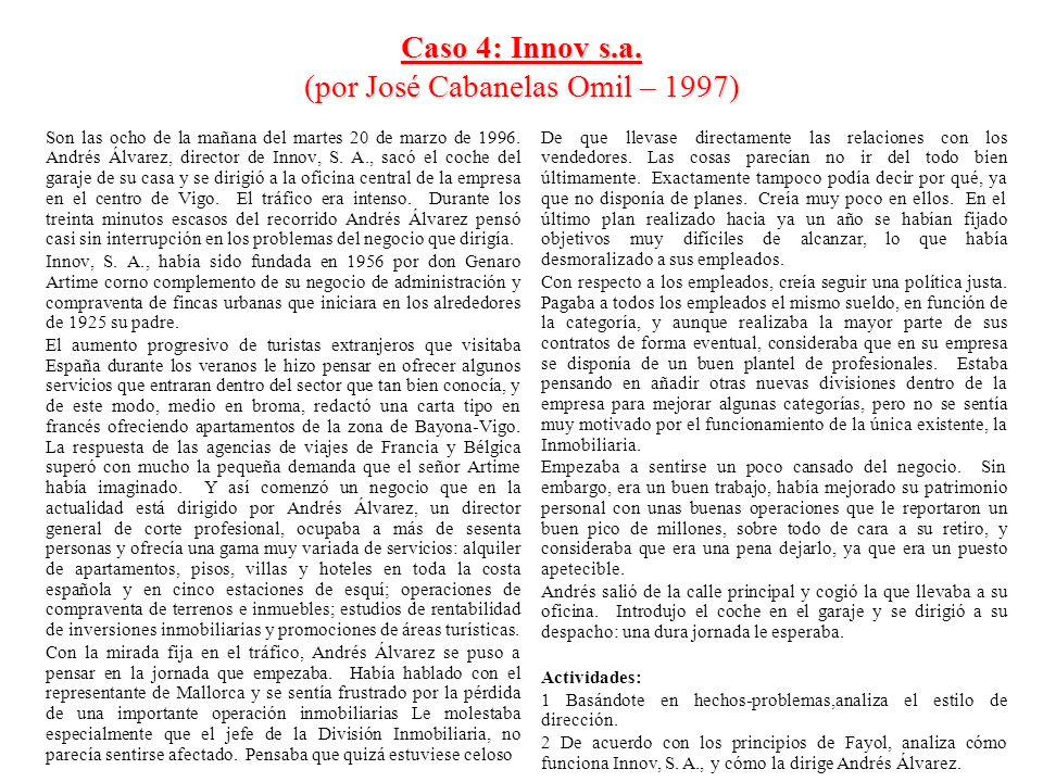Caso 4: Innov s.a. (por José Cabanelas Omil – 1997)