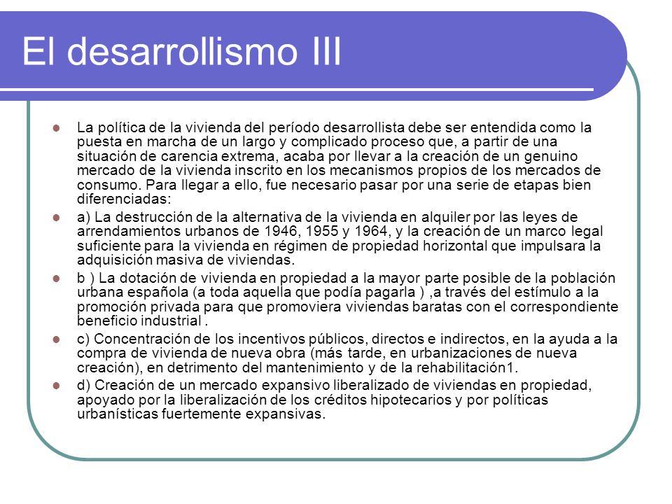 El desarrollismo III