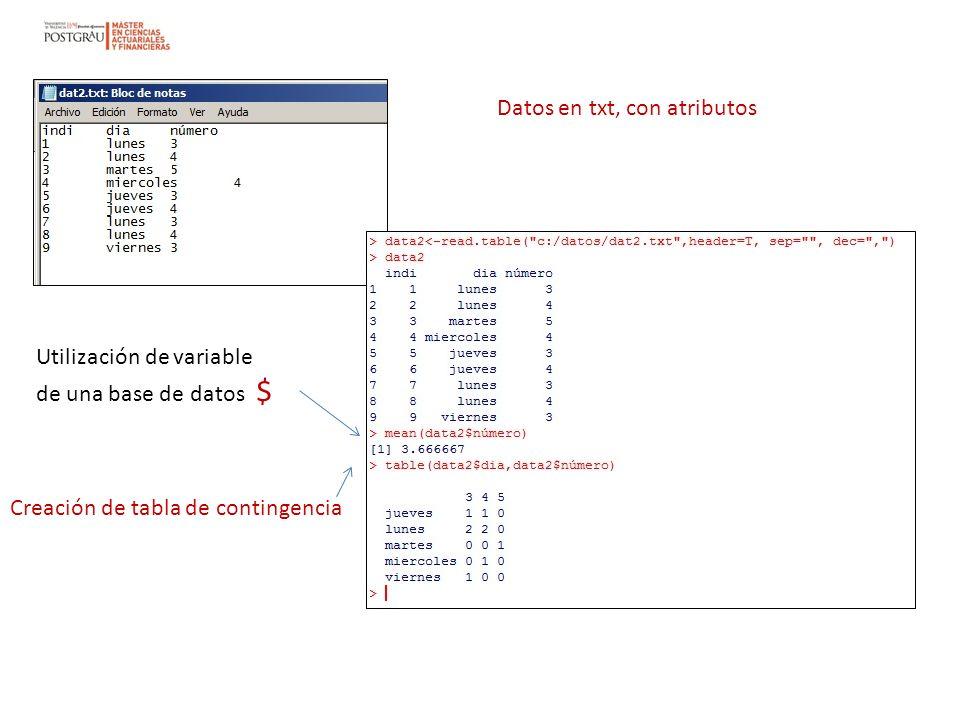 Datos en txt, con atributos