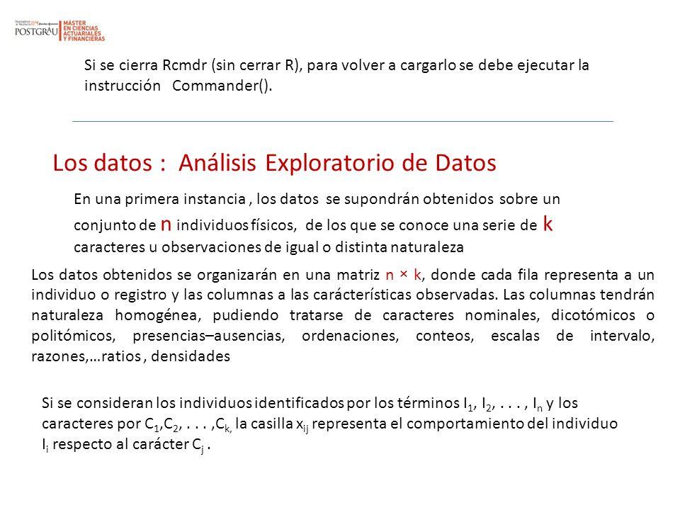 Los datos : Análisis Exploratorio de Datos