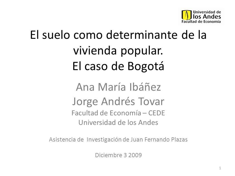 El suelo como determinante de la vivienda popular. El caso de Bogotá