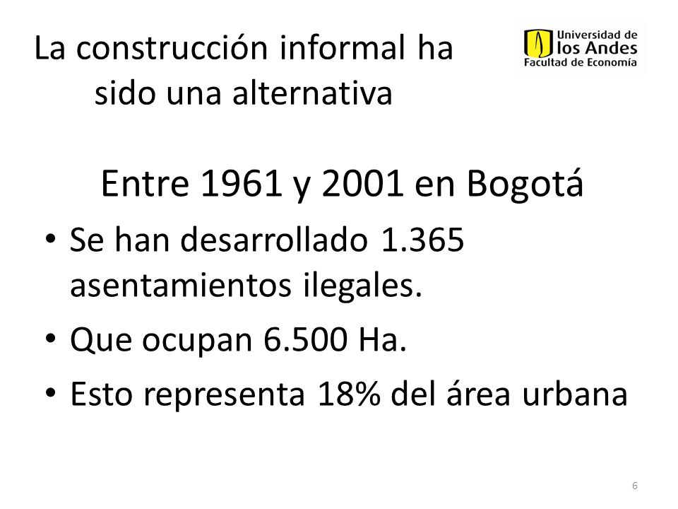 La construcción informal ha sido una alternativa