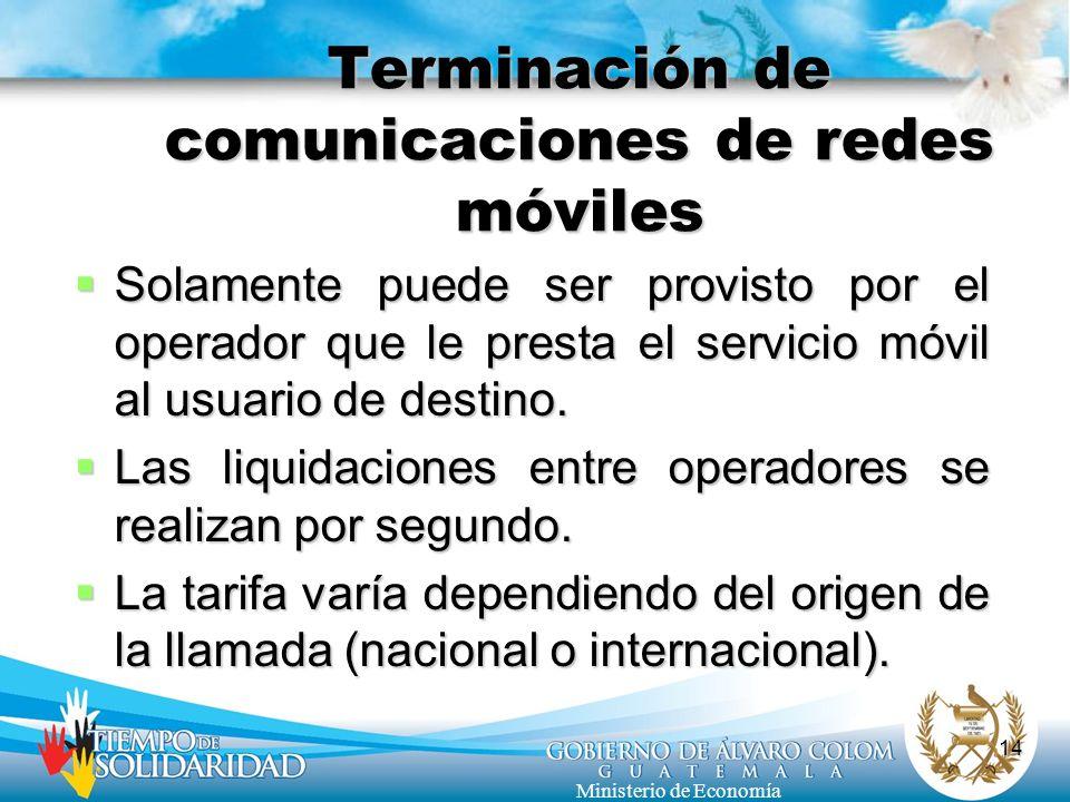 Terminación de comunicaciones de redes móviles