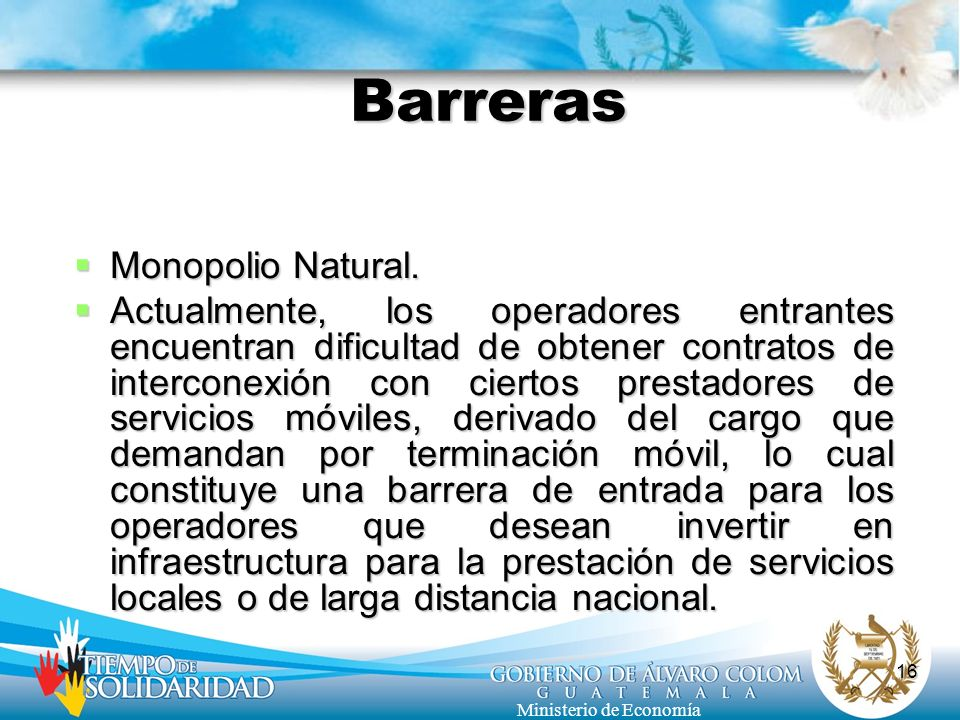 Barreras Monopolio Natural.