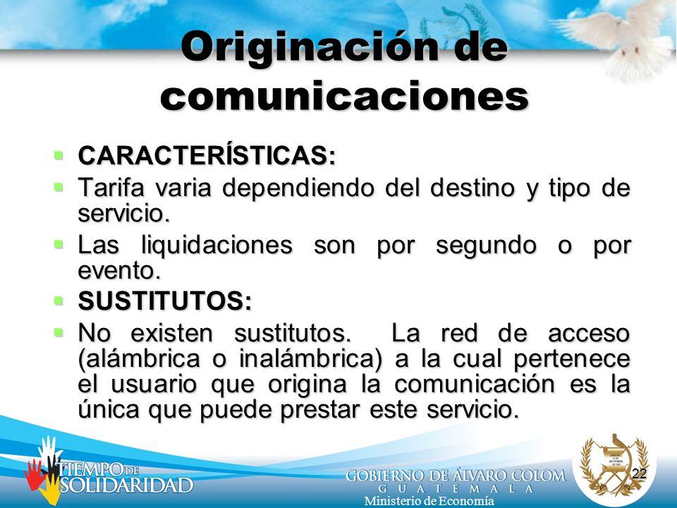 Originación de comunicaciones