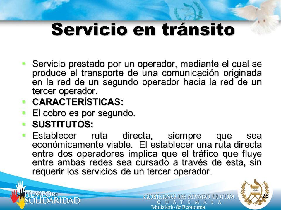Servicio en tránsito