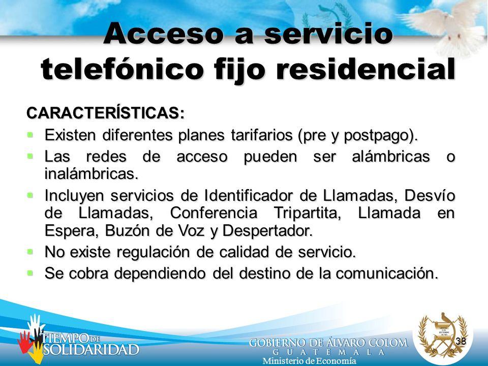 Acceso a servicio telefónico fijo residencial