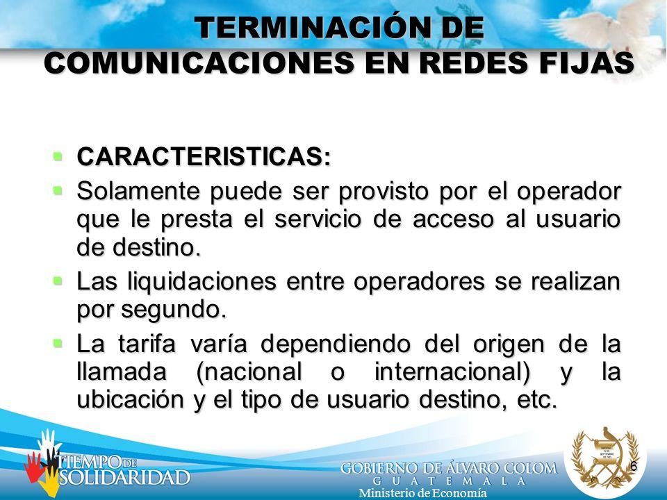 TERMINACIÓN DE COMUNICACIONES EN REDES FIJAS