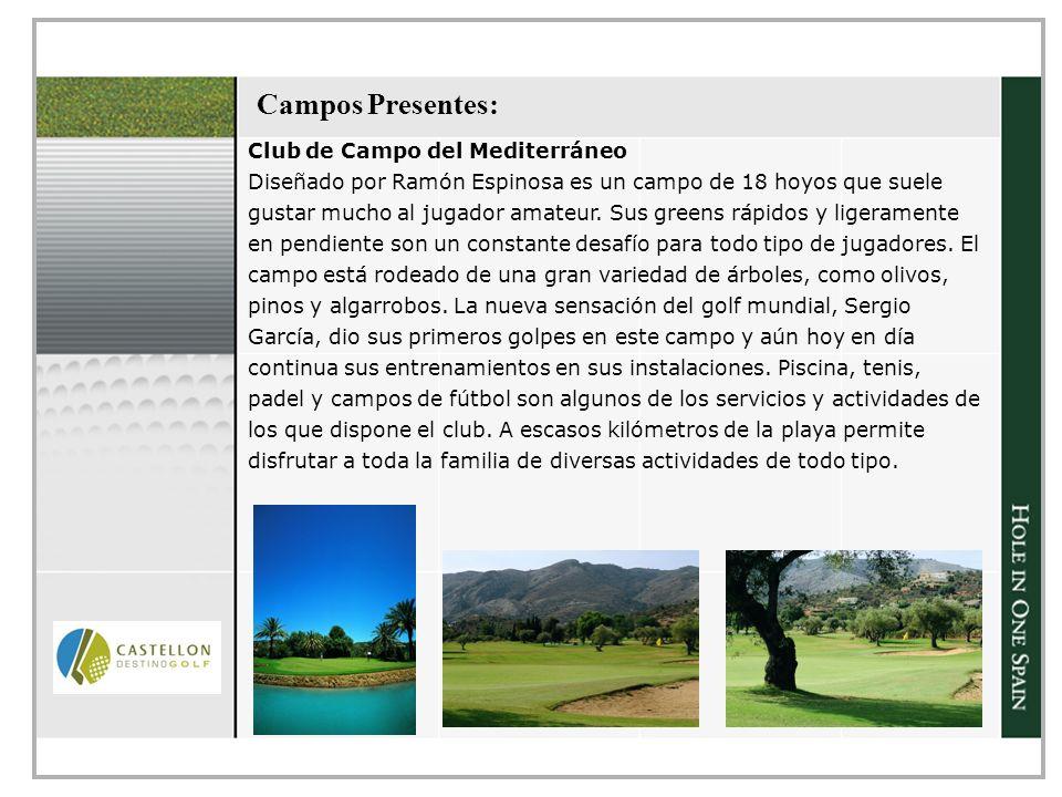 Campos Presentes: Club de Campo del Mediterráneo