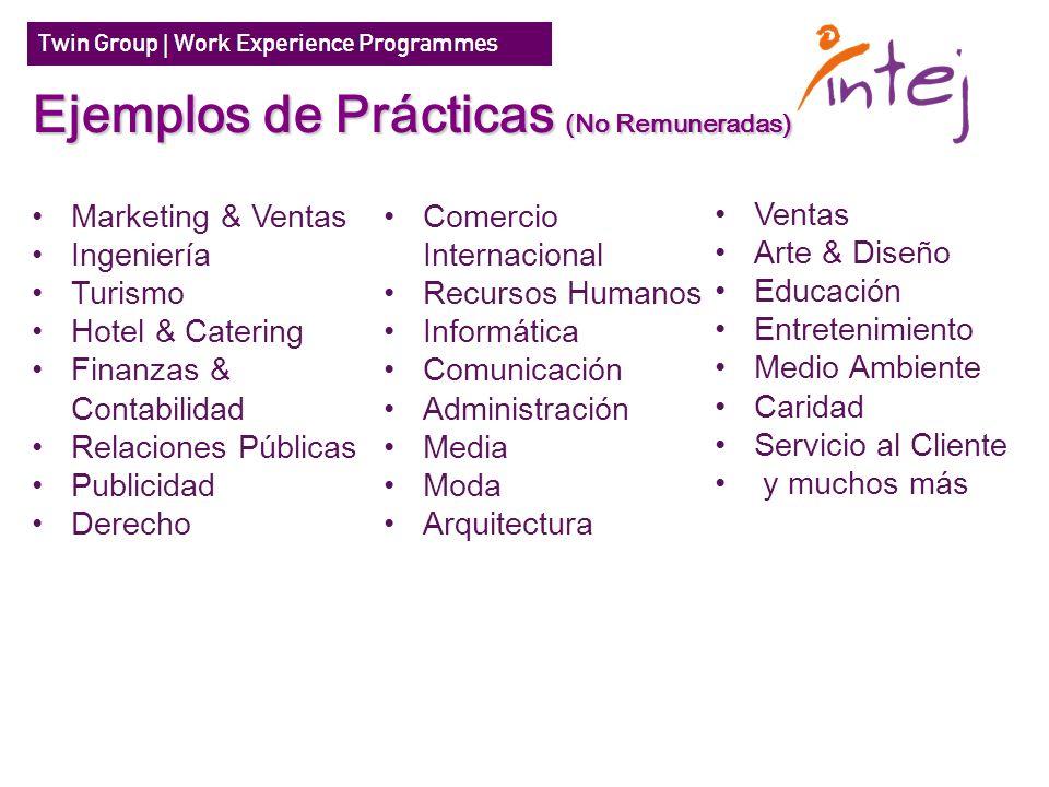 Ejemplos de Prácticas (No Remuneradas)