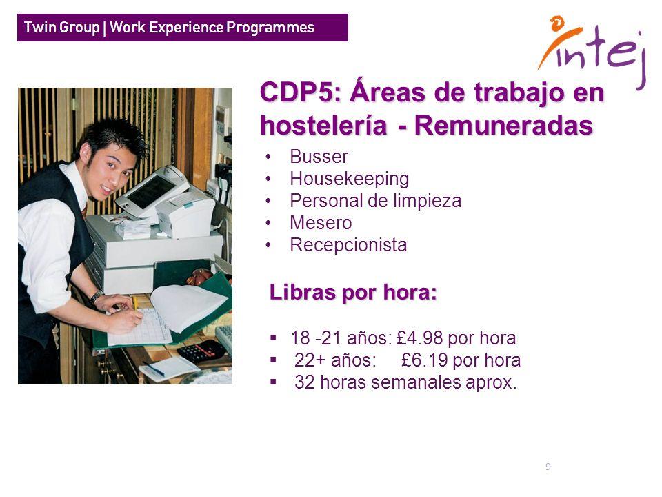 CDP5: Áreas de trabajo en hostelería - Remuneradas