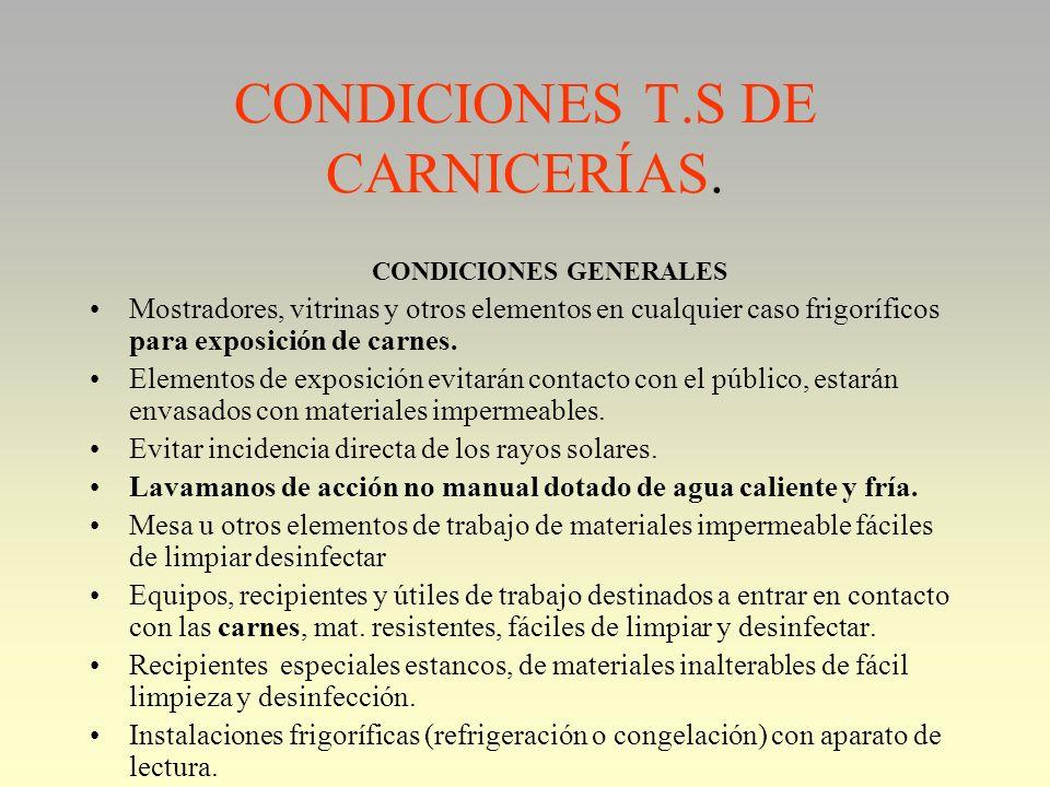 CONDICIONES T.S DE CARNICERÍAS.