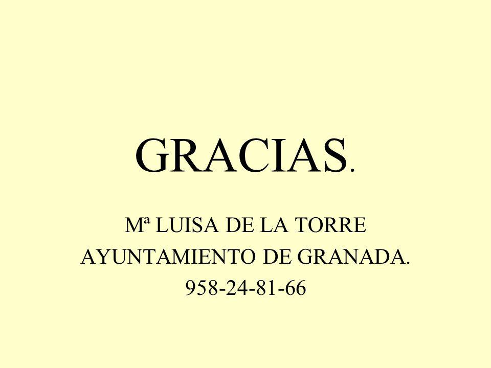 Mª LUISA DE LA TORRE AYUNTAMIENTO DE GRANADA. 958-24-81-66