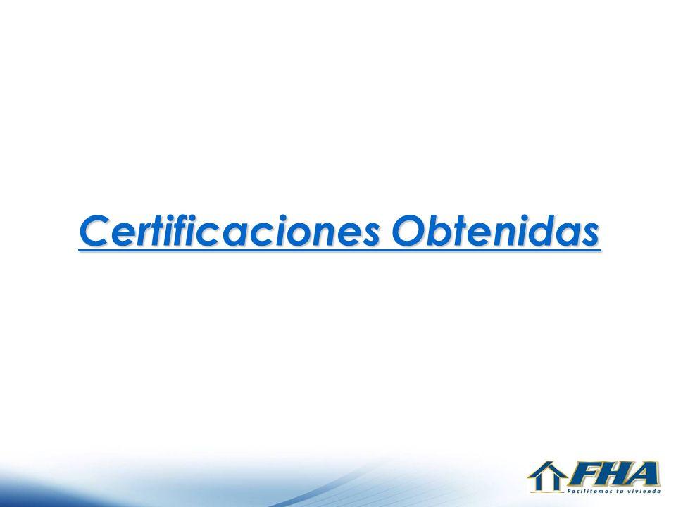 Certificaciones Obtenidas