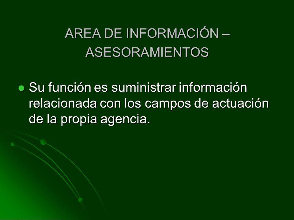 AREA DE INFORMACIÓN – ASESORAMIENTOS