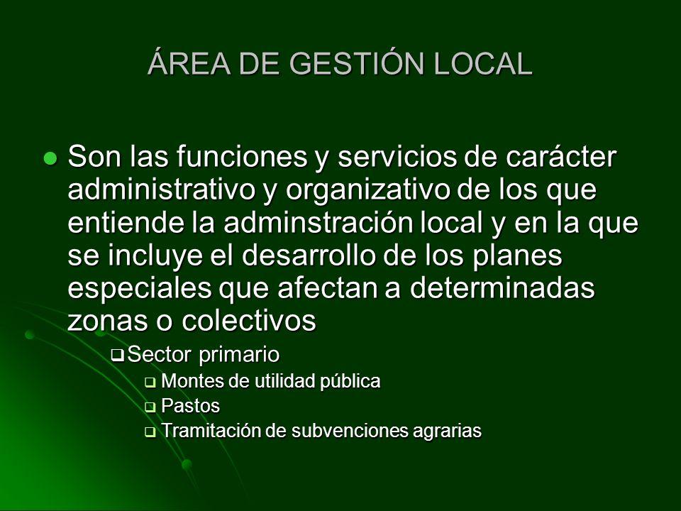 ÁREA DE GESTIÓN LOCAL