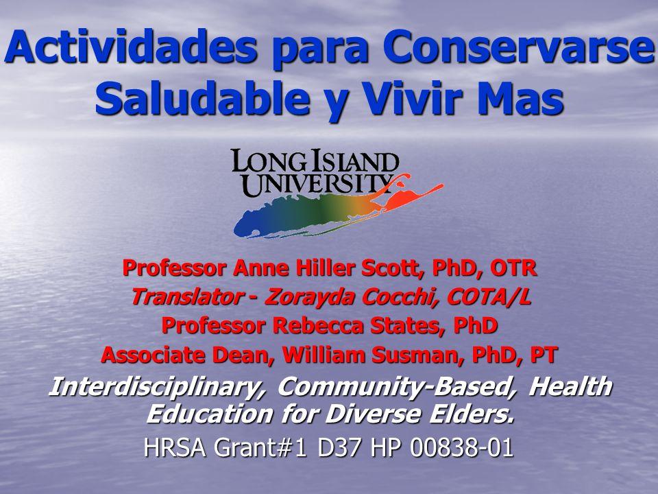 Actividades para Conservarse Saludable y Vivir Mas