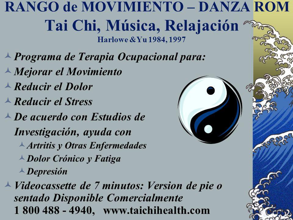 RANGO de MOVIMIENTO – DANZA ROM Tai Chi, Música, Relajación Harlowe &Yu 1984, 1997