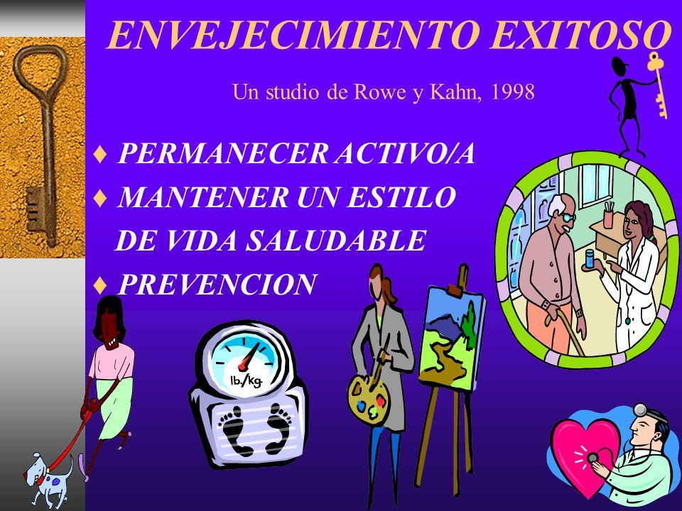 ENVEJECIMIENTO EXITOSO Un studio de Rowe y Kahn, 1998