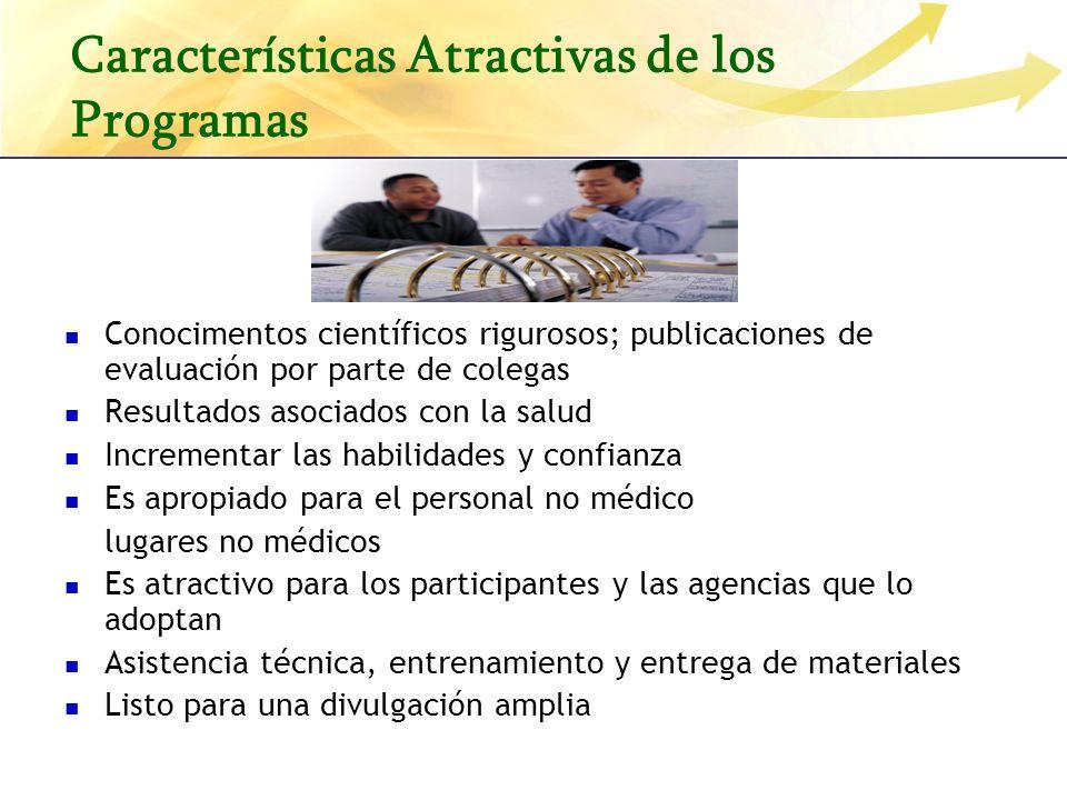 Características Atractivas de los Programas