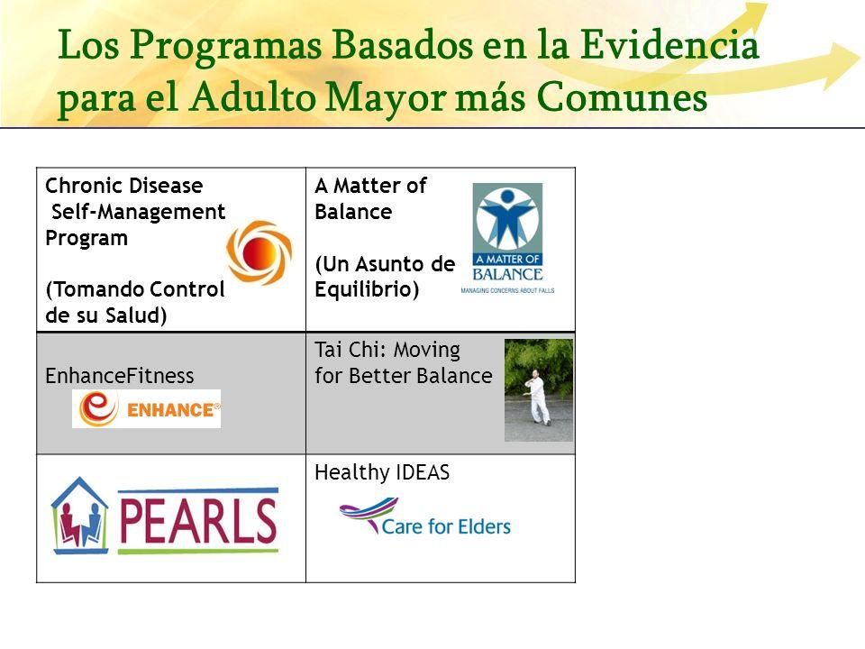 Los Programas Basados en la Evidencia para el Adulto Mayor más Comunes