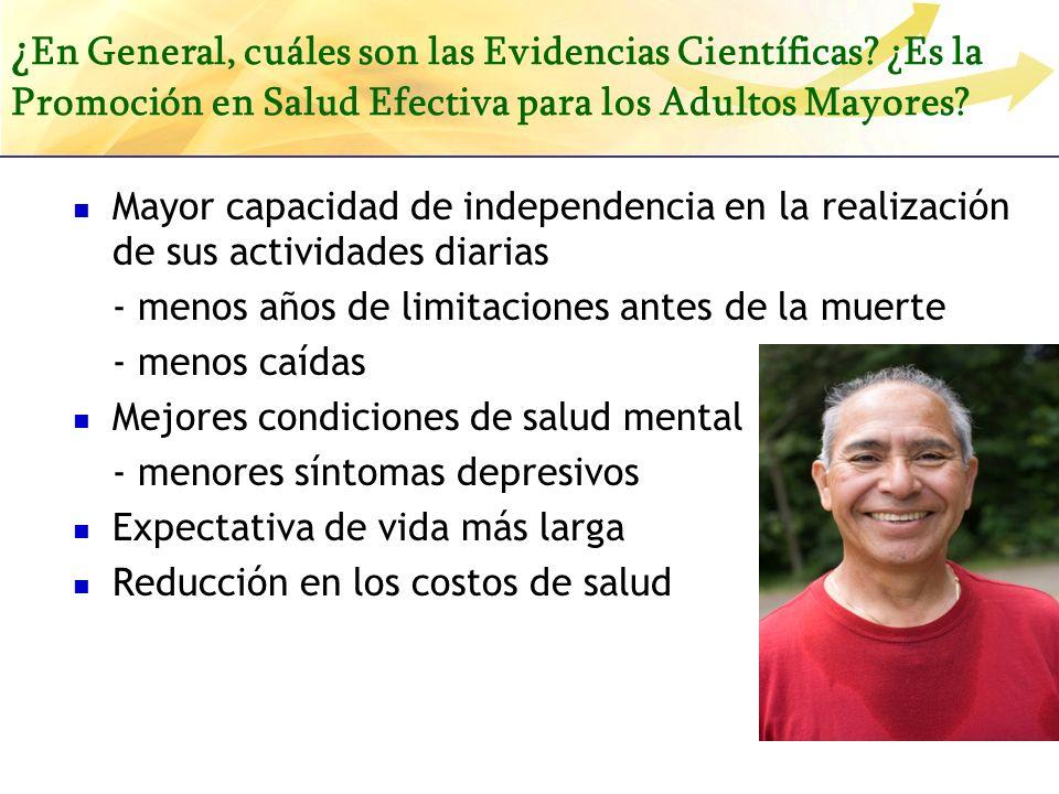 ¿En General, cuáles son las Evidencias Científicas