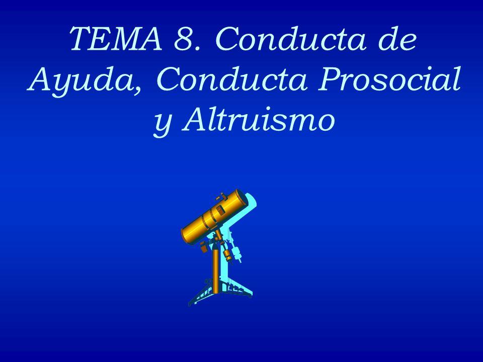 TEMA 8. Conducta de Ayuda, Conducta Prosocial y Altruismo
