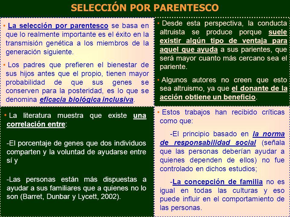 SELECCIÓN POR PARENTESCO