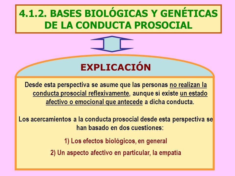 4.1.2. BASES BIOLÓGICAS Y GENÉTICAS DE LA CONDUCTA PROSOCIAL