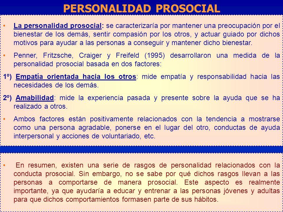 PERSONALIDAD PROSOCIAL