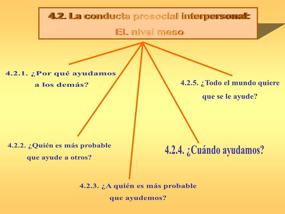 4.2. La conducta prosocial interpersonal: EL nivel meso