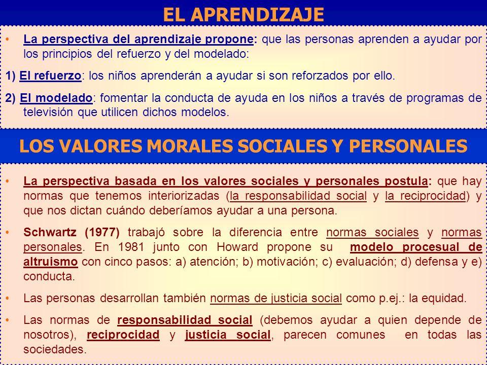 LOS VALORES MORALES SOCIALES Y PERSONALES