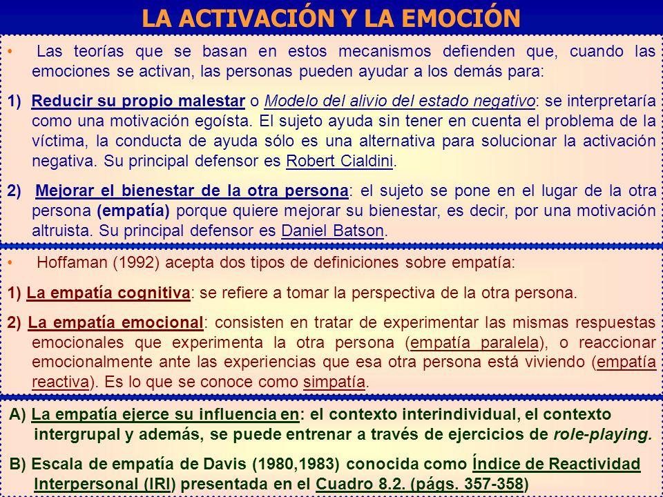 LA ACTIVACIÓN Y LA EMOCIÓN