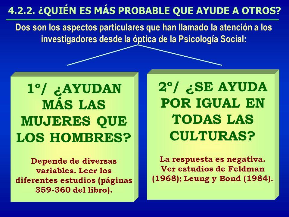 2º/ ¿SE AYUDA POR IGUAL EN TODAS LAS CULTURAS