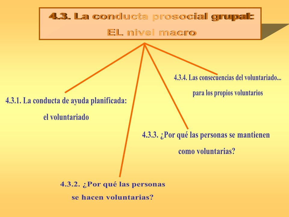 4.3. La conducta prosocial grupal: EL nivel macro