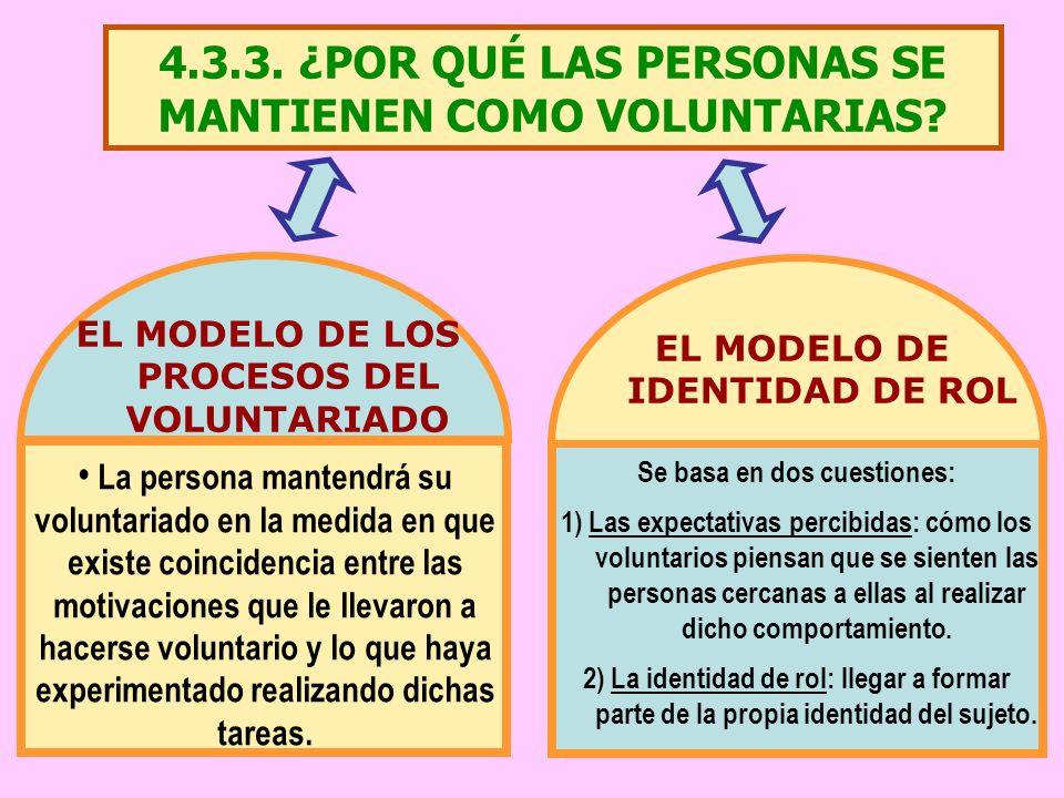 4.3.3. ¿POR QUÉ LAS PERSONAS SE MANTIENEN COMO VOLUNTARIAS