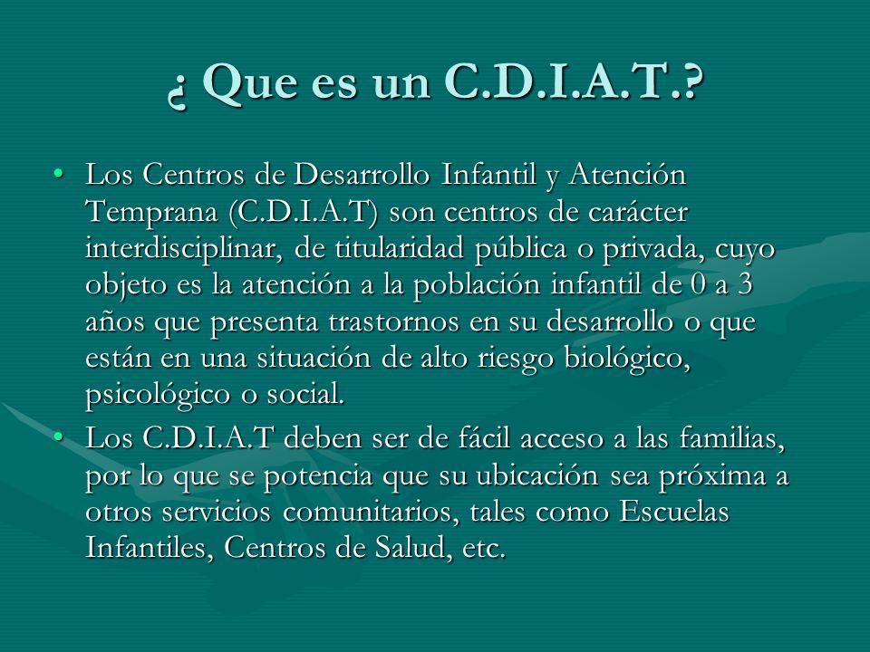 ¿ Que es un C.D.I.A.T.