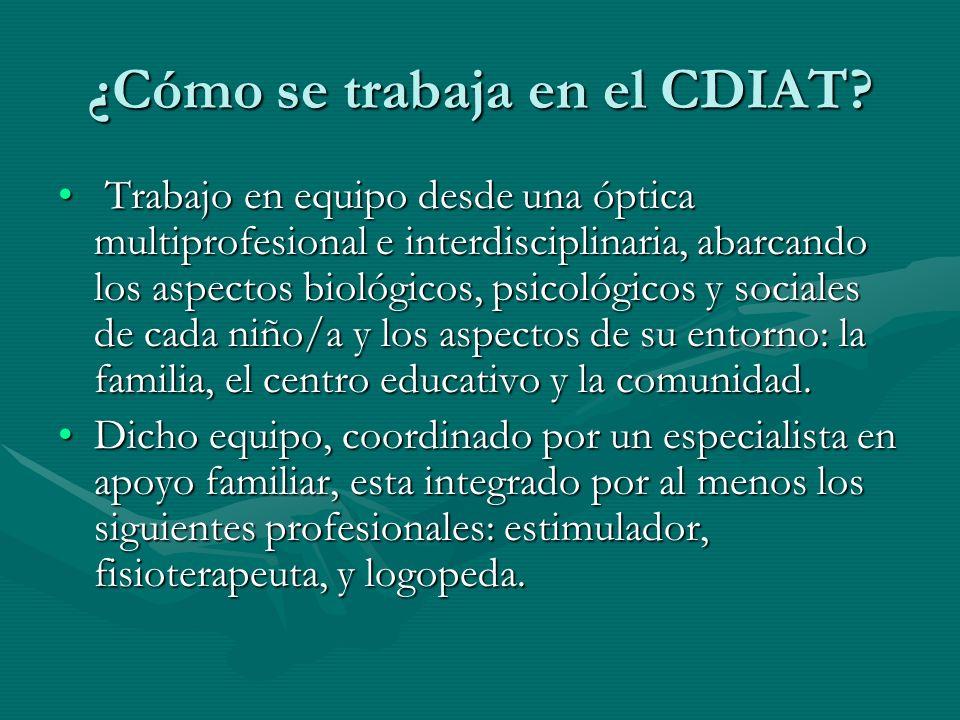 ¿Cómo se trabaja en el CDIAT