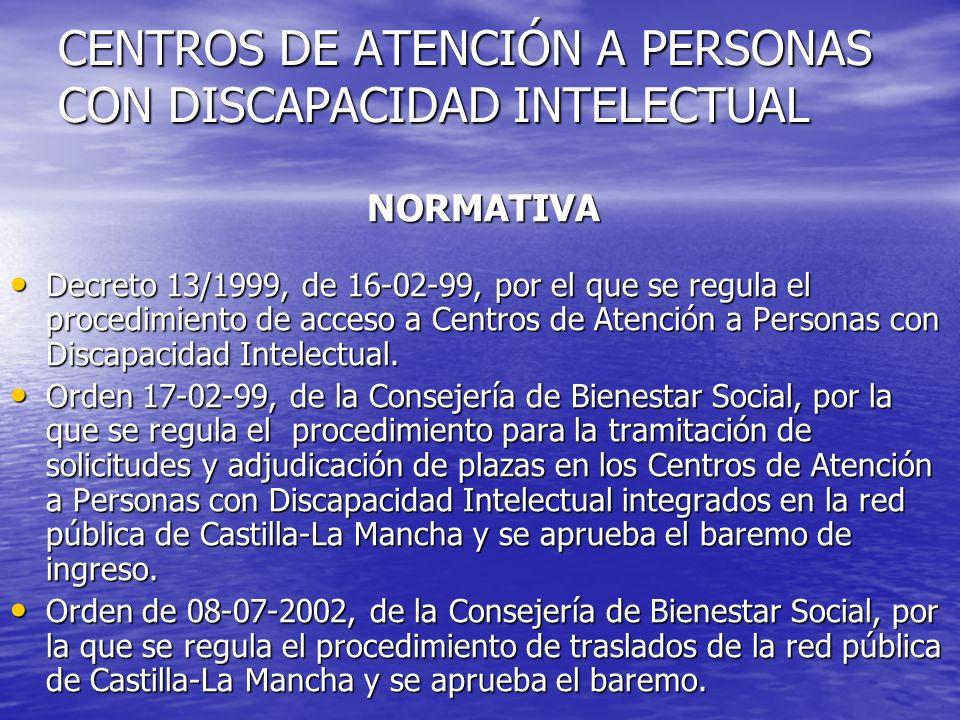 CENTROS DE ATENCIÓN A PERSONAS CON DISCAPACIDAD INTELECTUAL
