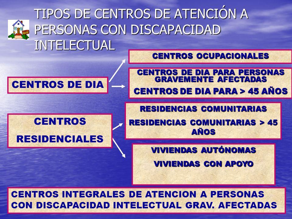 TIPOS DE CENTROS DE ATENCIÓN A PERSONAS CON DISCAPACIDAD INTELECTUAL