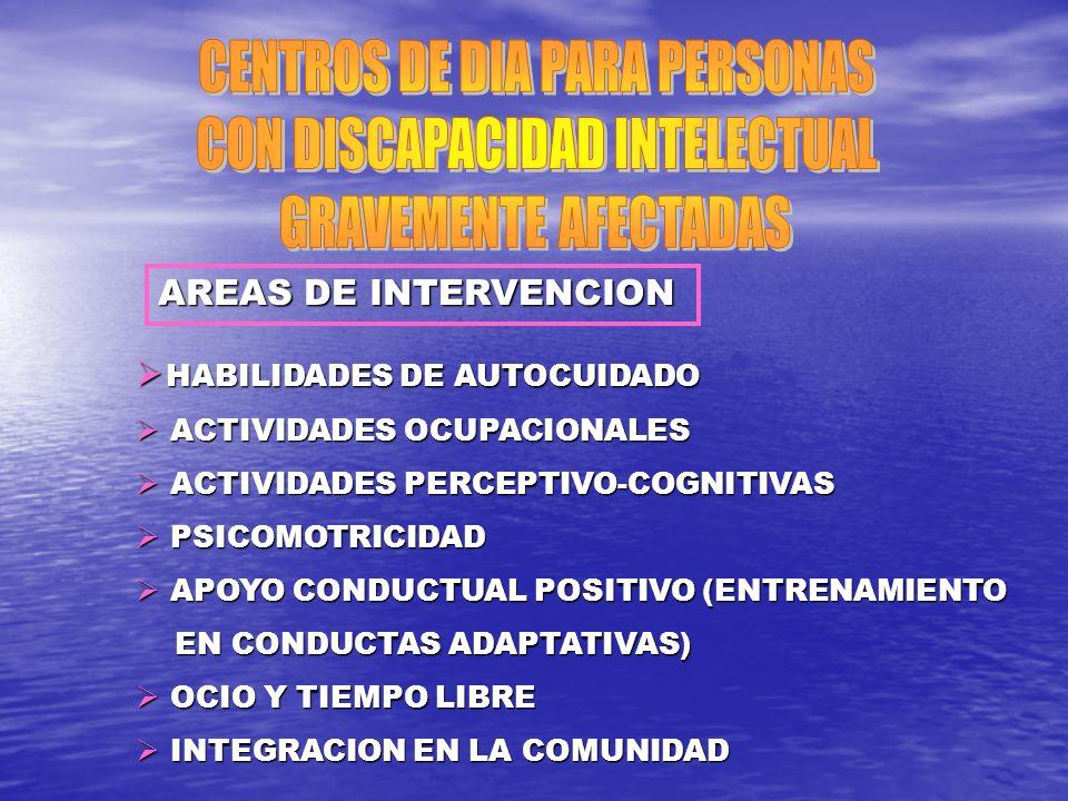 CENTROS DE DIA PARA PERSONAS CON DISCAPACIDAD INTELECTUAL