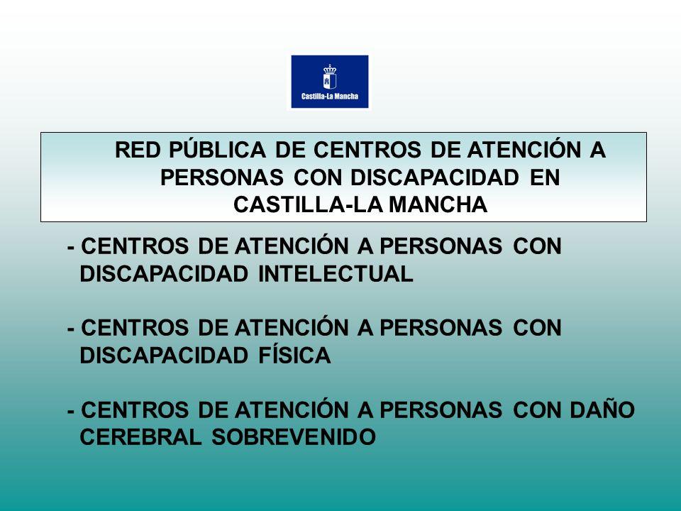 RED PÚBLICA DE CENTROS DE ATENCIÓN A PERSONAS CON DISCAPACIDAD EN